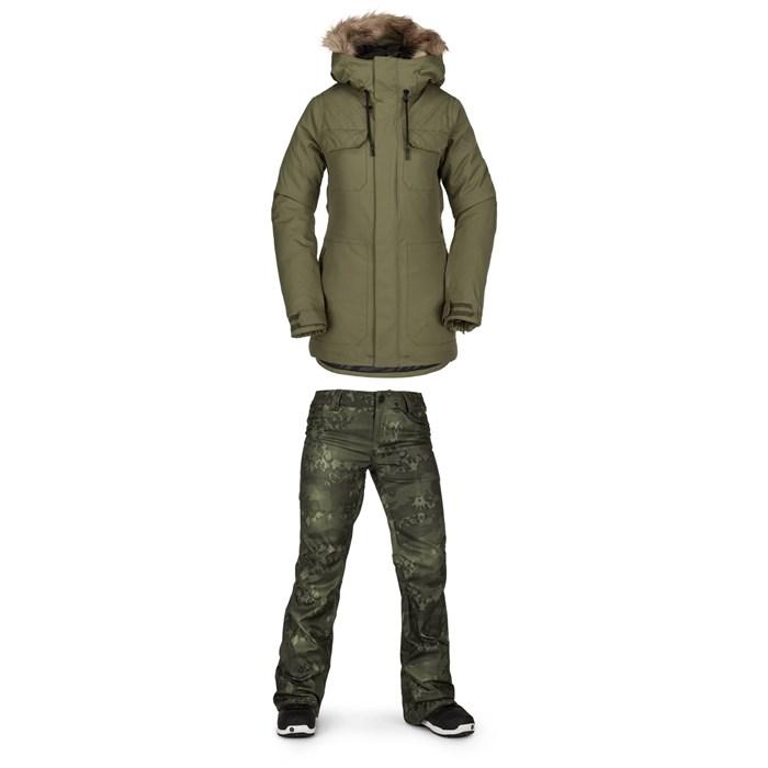 Volcom - Shadow Insulated Jacket + Volcom Species Stretch Pants - Women's