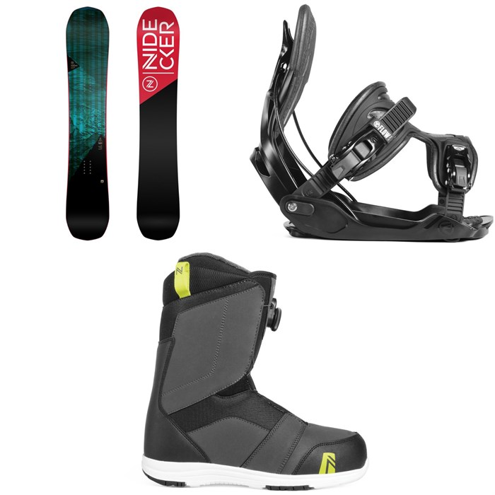 Nidecker - Score Snowboard + Flow Alpha Snowboard Bindings + Nidecker Ranger Boa Snowboard Boots 2019