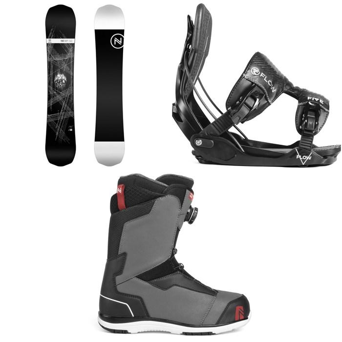 Nidecker - Era Snowboard + Flow Five Fusion Snowboard Bindings + Nidecker Aero Boa Coil Snowboard Boots 2019