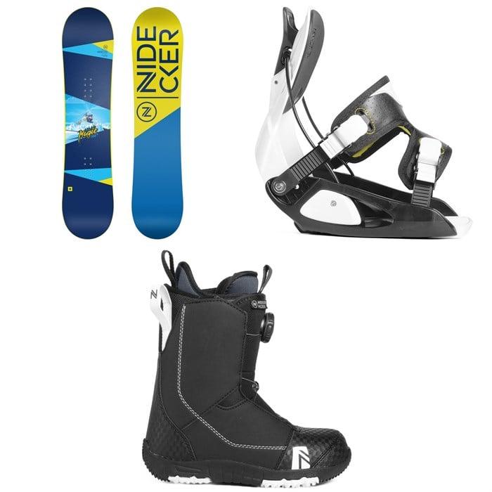 Nidecker - Micron Magic Snowboard + Flow Micron Snowboard Bindings - Little Kids' + Nidecker Micron Boa Snowboard Boots 2019