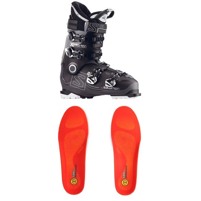 Salomon - X Pro 100 Ski Boots + Sidas Winter 3 Feet Mid Footbeds