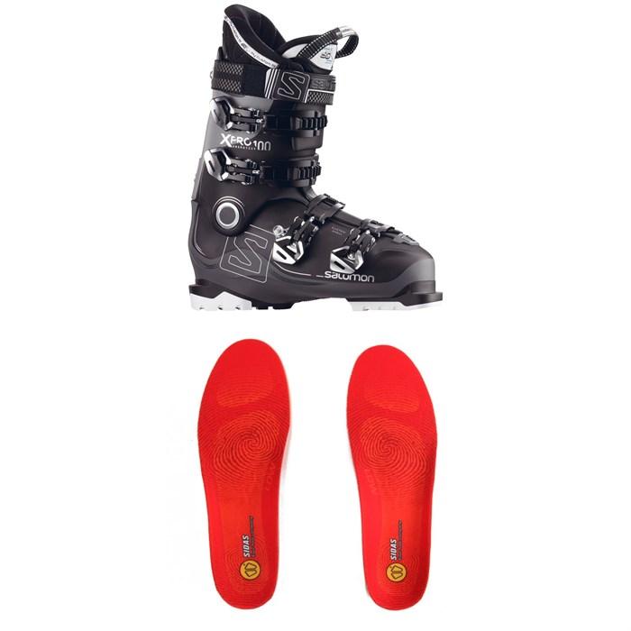 Salomon - X Pro 100 Ski Boots + Sidas Winter 3 Feet Low Footbeds