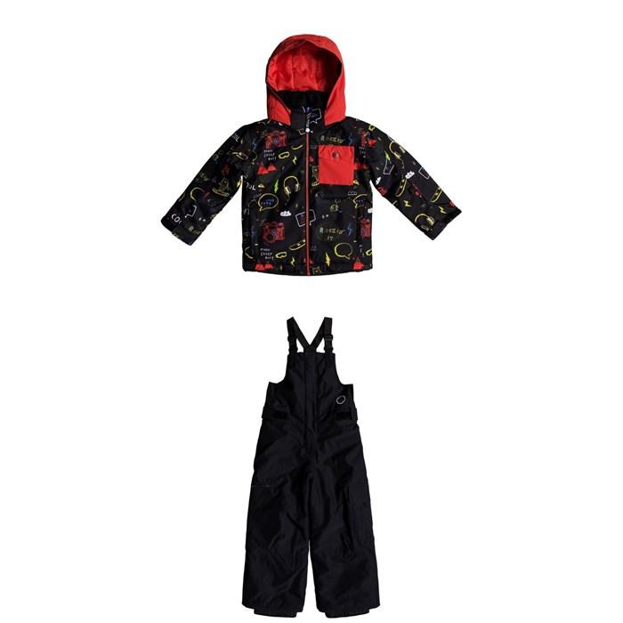 Quiksilver - Little Mission Jacket + Quiksilver Boogie Bibs - Little Boys'