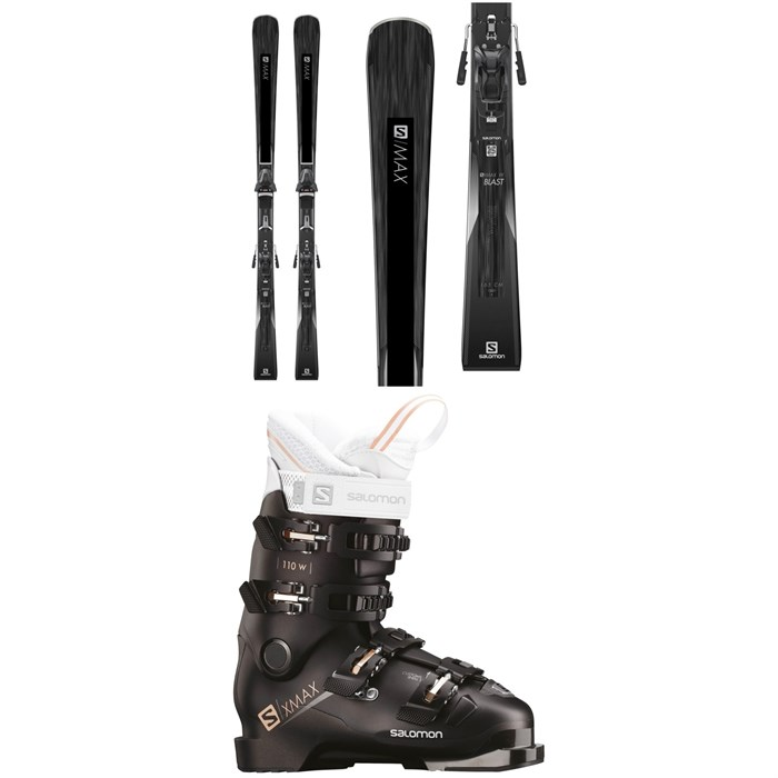 Salomon - S/Max W Blast Skis + Z12 Walk Bindings + Salomon X Max 110 W Ski Boots - Women's 2019