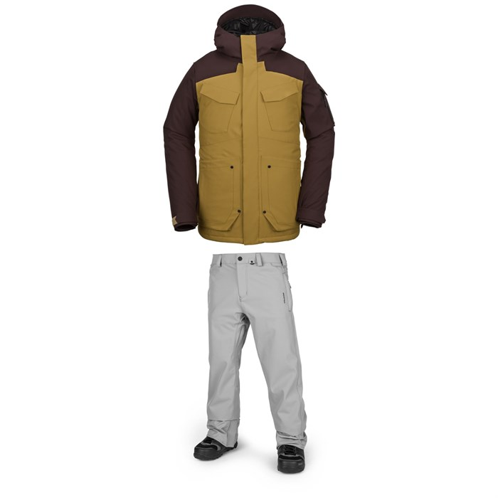 Volcom - VCO Inferno Insulated Jacket + Freakin Snow Chino Pants