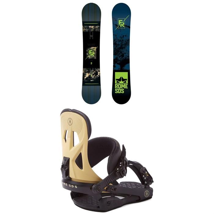 Rome - Factory Rocker Snowboard 2018 + Rome Arsenal Snowboard Bindings 2018