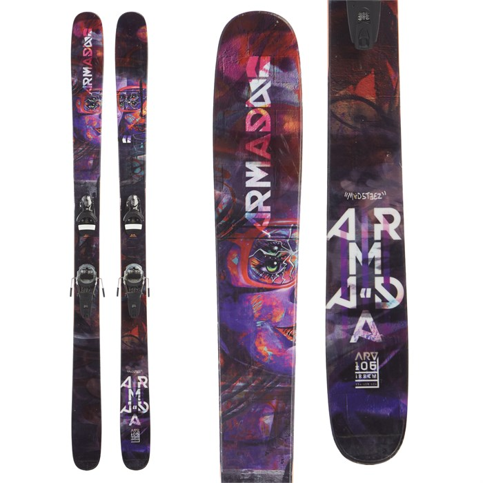 Armada ARV 106 Skis + Look Pivot 14 Dual WTR Bindings 2018