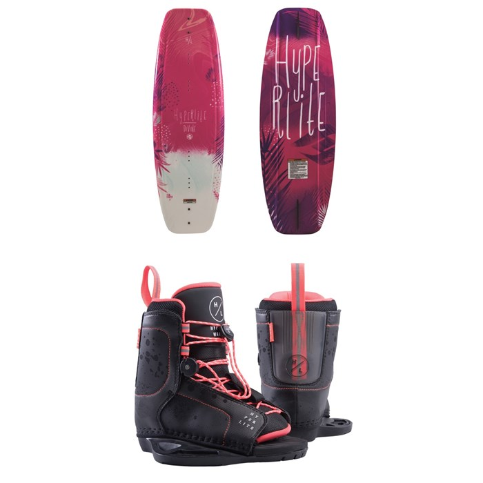 Hyperlite - Divine Wakeboard + Jinx Jr. Wakeboard Bindings - Girls' 2019