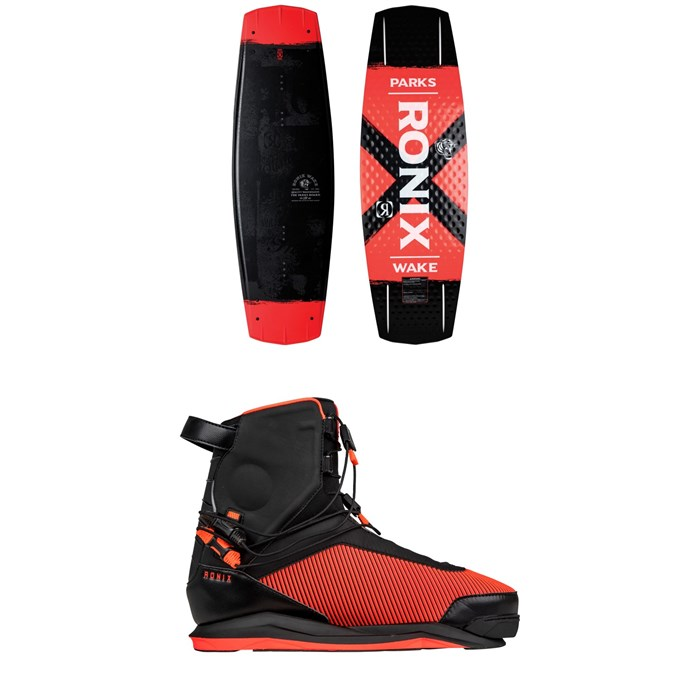 Ronix - Parks Modello Wakeboard + Parks Wakeboard Bindings 2019