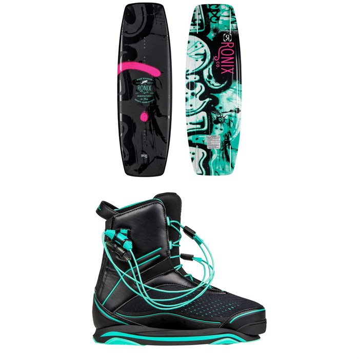 Ronix - Quarter 'Til Midnight Wakeboard + Signature Wakeboard Bindings - Women's 2019
