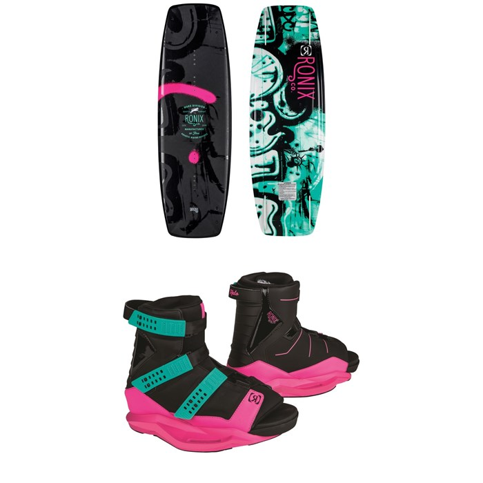 Ronix - Quarter 'Til Midnight Wakeboard + Halo Wakeboard Bindings - Women's 2019