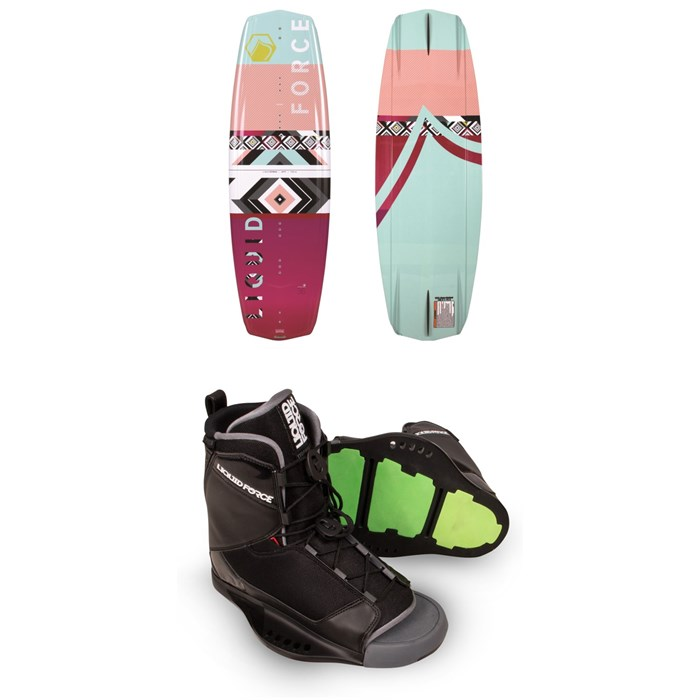 Liquid Force - Jett Wakeboard + Liquid Force Transit Wakeboard Bindings - Women's 2019