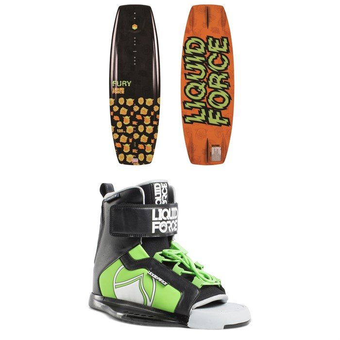 Liquid Force - Fury Wakeboard + Rant Wakeboard Bindings - Boys' 2019