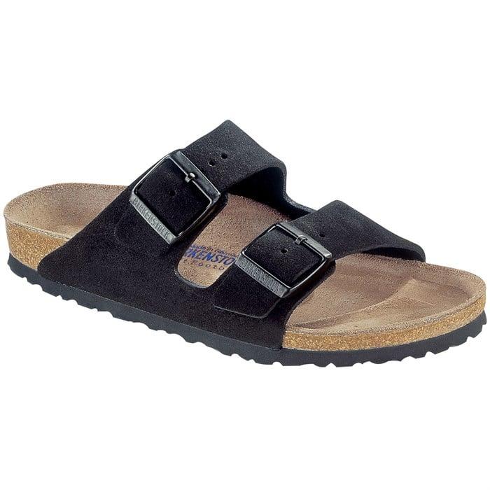 Birkenstock - Arizona Suede Soft Footbed Sandals