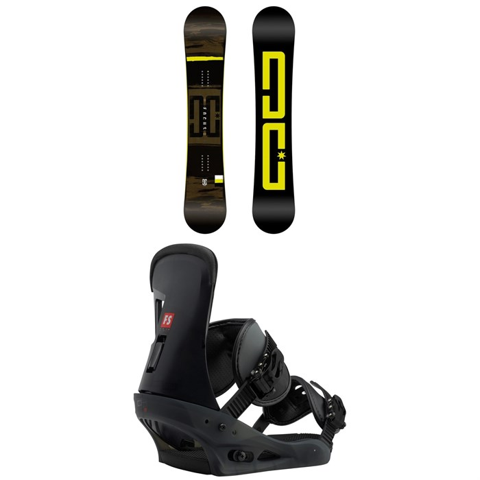 DC - Focus Snowboard + Burton Freestyle Snowboard Bindings 2019