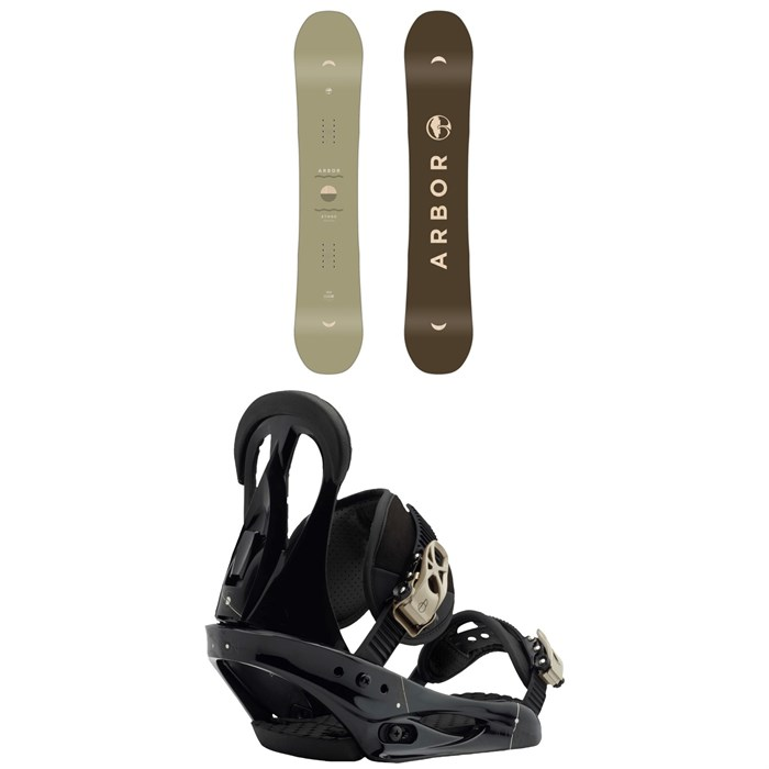 Arbor - Ethos Snowboard - Women's + Burton Citizen Snowboard Bindings - Women's 2019