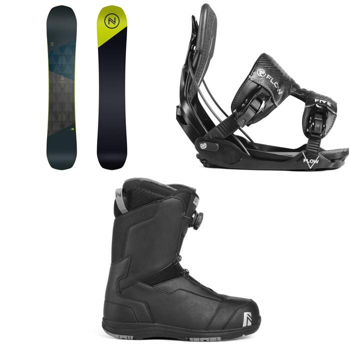 Nidecker - Merc Snowboard + Flow Five Fusion Snowboard Bindings + Nidecker Aero Boa Coil Snowboard Boots 2019