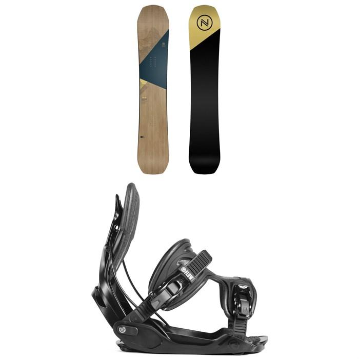 Nidecker - Escape Snowboard + Flow Alpha Snowboard Bindings 2019