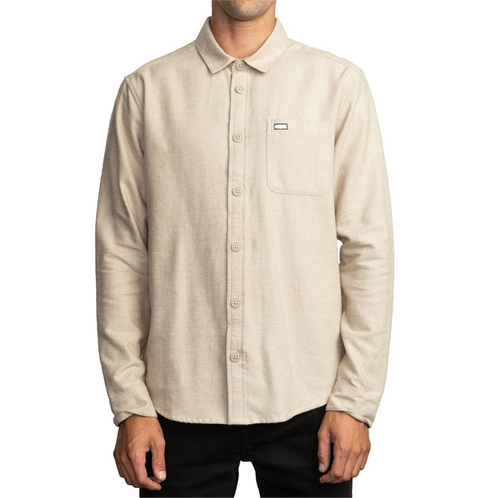 RVCA - Black Sand Flannel Long-Sleeve Shirt
