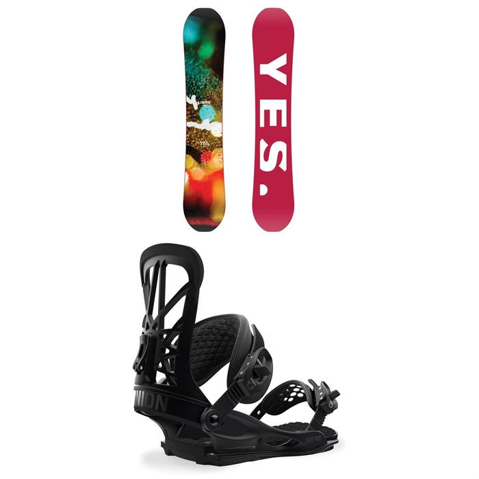 Yes. - Libre Snowboard + Union Flite Pro Snowboard Bindings 2019