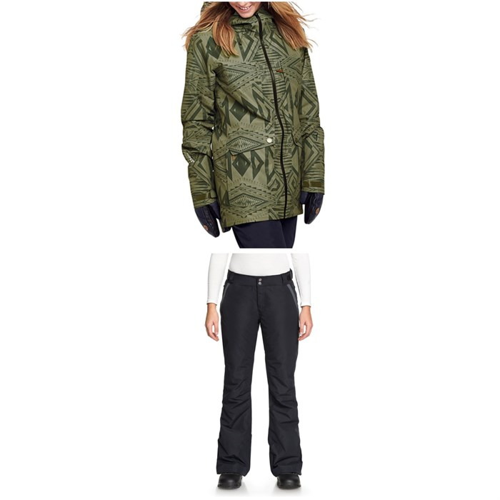 Roxy - Glade Printed GORE-TEX 2L Jacket + Roxy Rushmore 2L GORE-TEX Pants - Women's