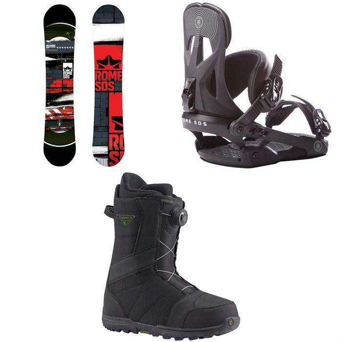 Rome - Mechanic Snowboard 2018 + Arsenal Snowboard Bindings 2018 + Burton Highline Boa Snowboard Boots 2017