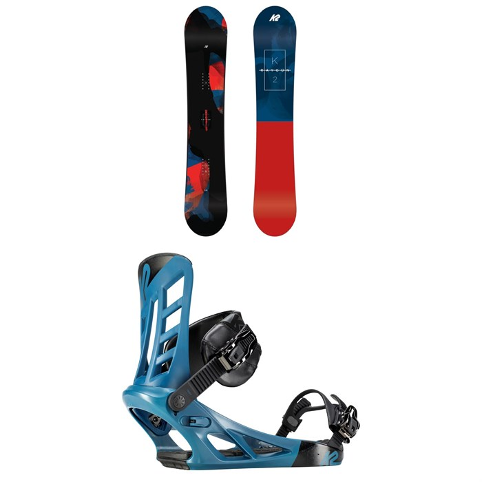 K2 - Raygun Snowboard + K2 Indy Snowboard Bindings 2019
