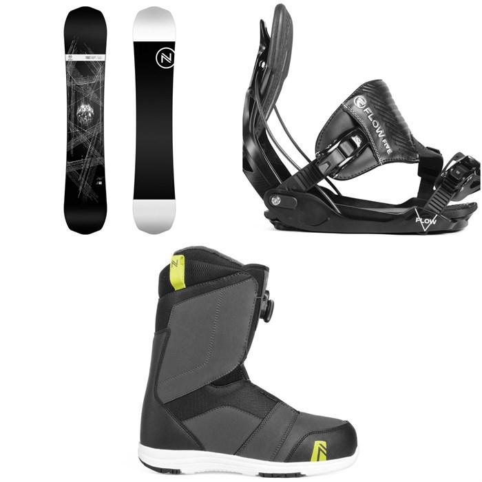 Nidecker - Era Snowboard + Flow Five Hybrid Snowboard Bindings + Nidecker Ranger Boa Snowboard Boots 2019