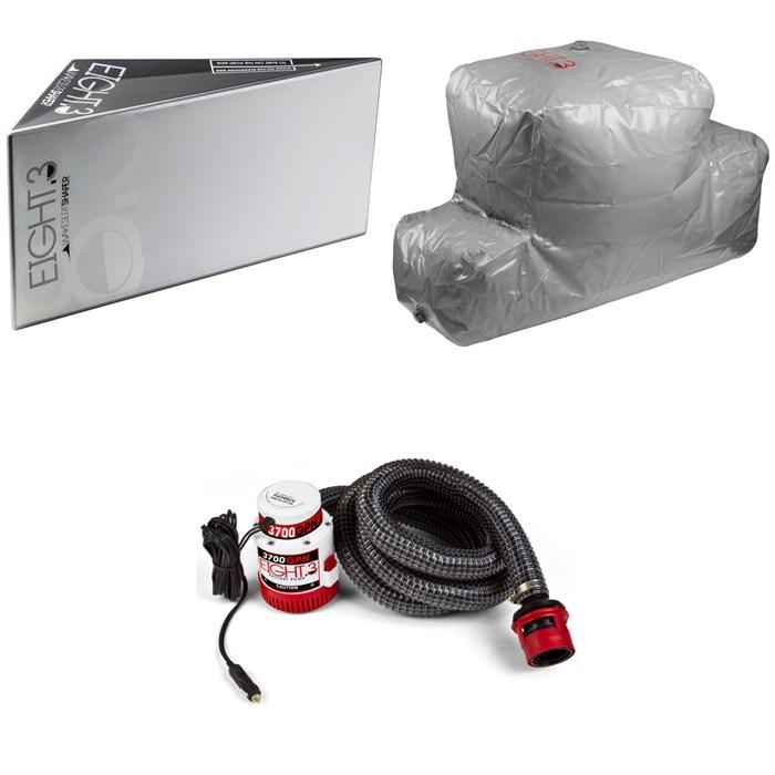 Eight.3 - Wakesurf Shaper + Eight.3 Plug 'n Play CTN 540 lbs Rear Locker Ballast Bag + 3700 GPH Submersible Pump