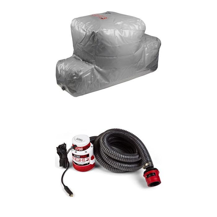 Eight.3 - Plug 'n Play CTN 650 lbs Rear Locker Ballast Bag + Eight.3 3700 GPH Submersible Pump