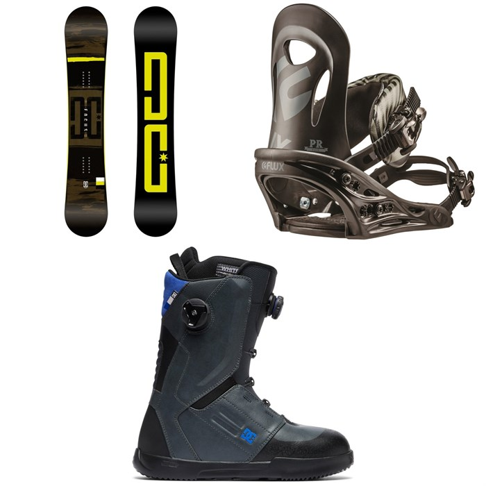 DC - Focus Snowboard + Flux PR Snowboard Bindings + DC Control Boa Snowboard Boots 2019