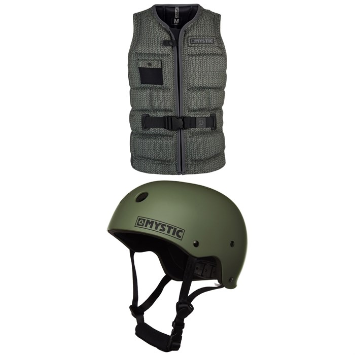 Mystic - Break Boundaries Impact Wake Vest  + MK8 Wake Helmet