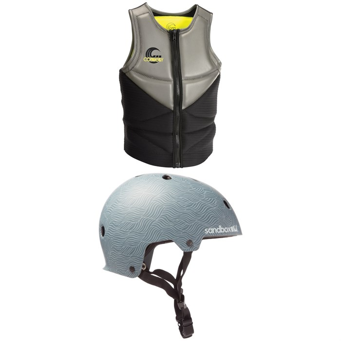 Connelly - Team Neo Impact Wakeboard Vest + Sandbox Legend Low Rider Wakeboard Helmet