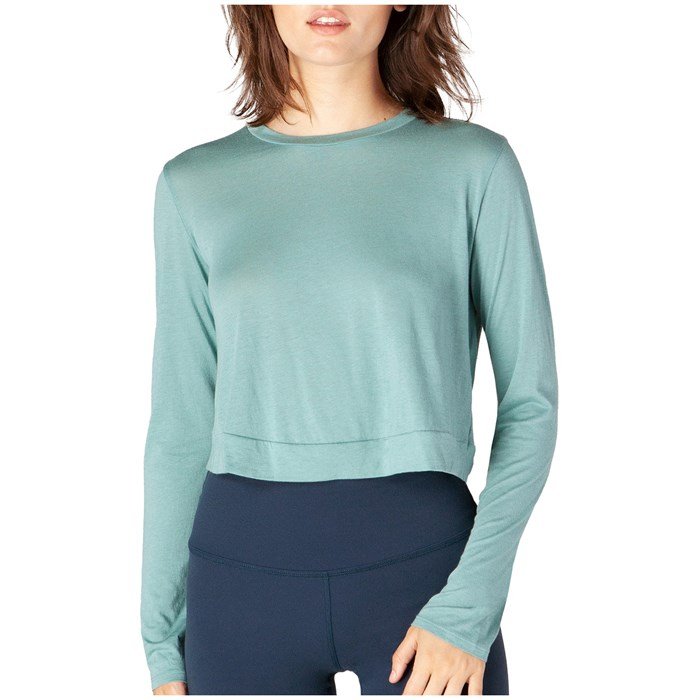 Beyond Yoga - Back Out Reversible Cropped Pullover - Women's
