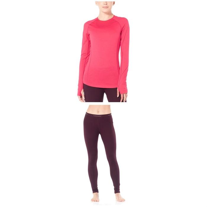 Icebreaker - 150 Zone Long Sleeve Crew Top + Leggings - Women's