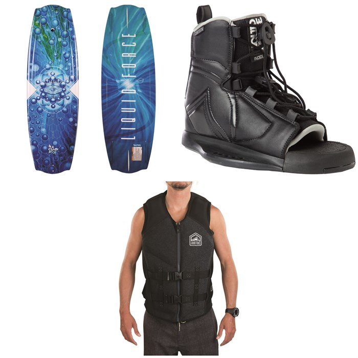 Liquid Force - Trip Wakeboard + Index Bindings + Watson CGA Wakeboard Vest