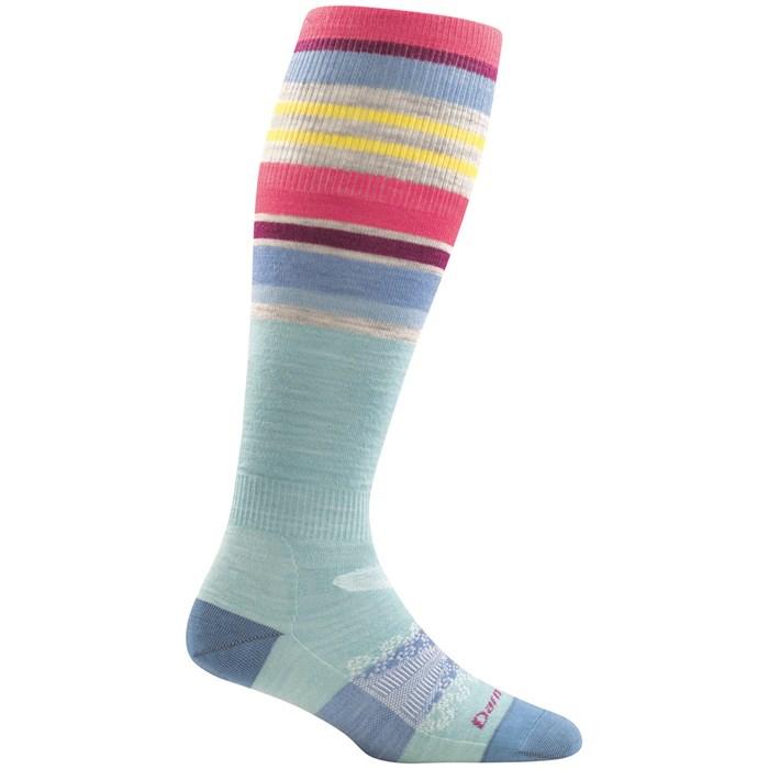 Darn Tough - Glacier Stripe Over-the-Calf Light Socks - Women's