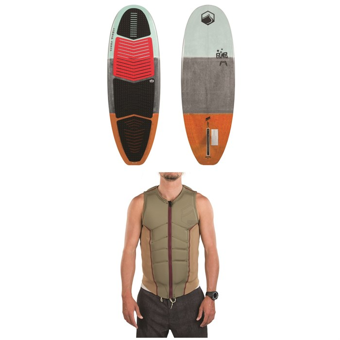 Liquid Force - El Guapo Wakesurf Board + Ghost Comp Wake Vest 2018