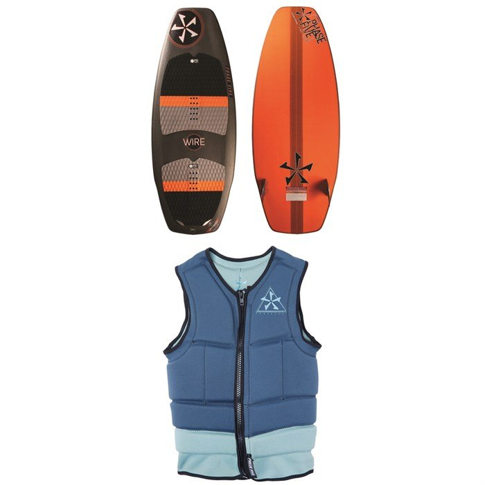 Phase Five - Wire Wakesurf Board + Mens Comp Wakesurf Vest