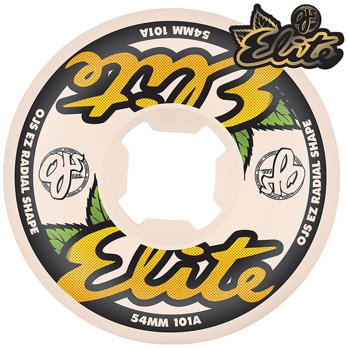 OJ - Elite White EZ EDGE 101a Skateboard Wheels