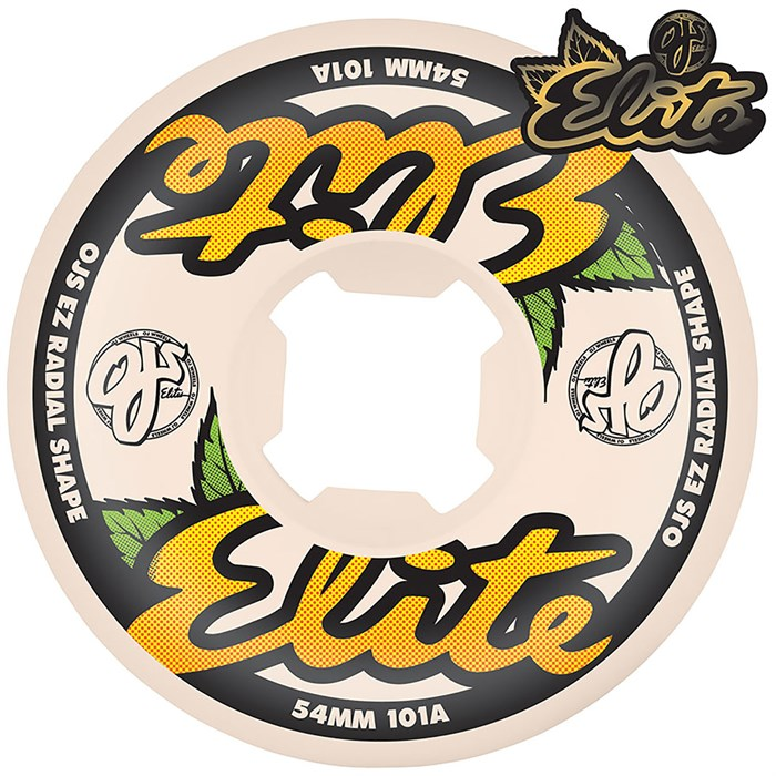 OJ - Elite White EZ EDGE 101a Skateboard Wheels