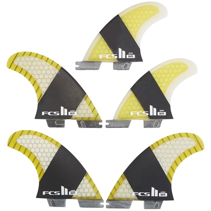 FCS - II SF4 Carbon Large Tri-Quad Fin Set