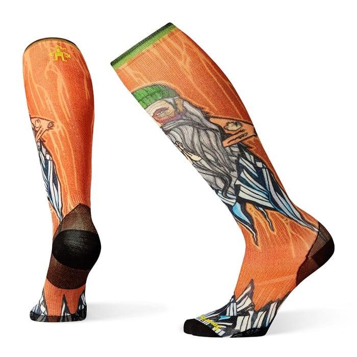 Smartwool - PhD® Ski Ultra Light Old Man Winter Print Socks