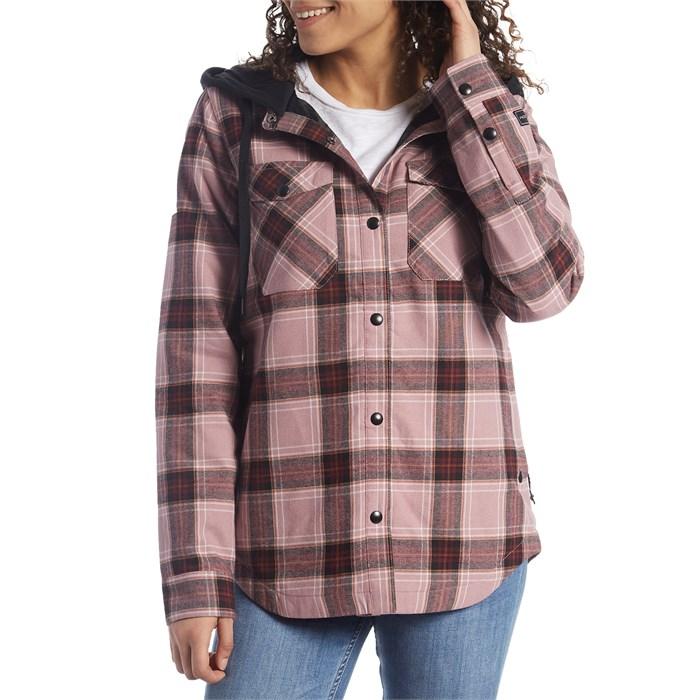 Volcom - Hooded Flannel Jacket - Women's