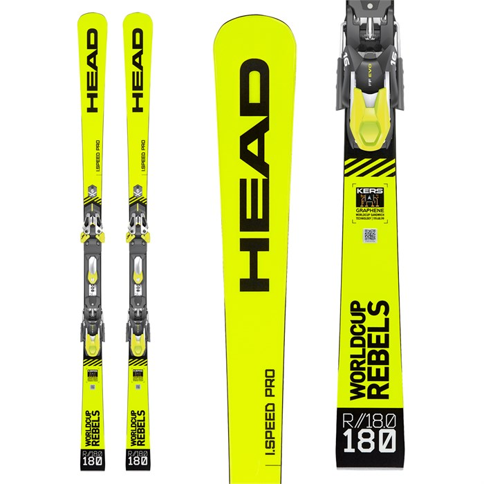 Head - WC Rebels iSpeed Pro Skis + EVO 14 Bindings 2020