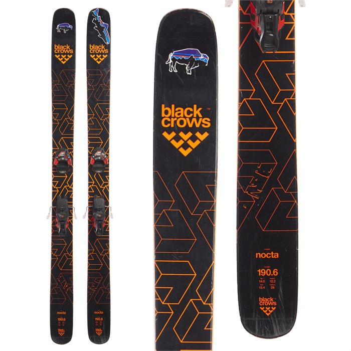 Black Crows Nocta Skis + Salomon Warden MNC 13 Bindings