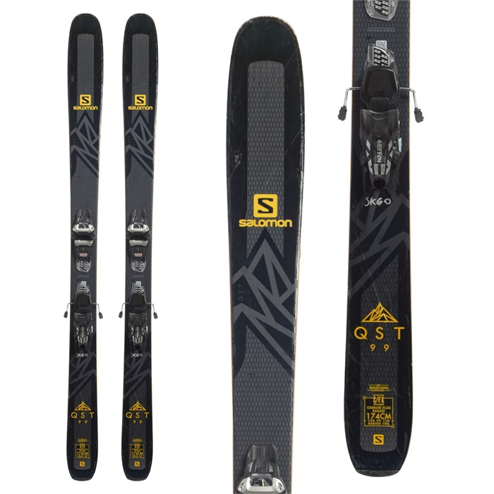 Salomon QST 99 Skis + Marker Griffon 13 Demo Bindings 2019