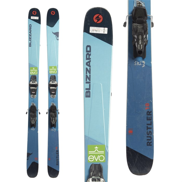 Blizzard Rustler 10 Skis + Marker Griffon 13 Demo Bindings