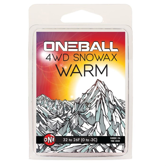 OneBall - 4WD Warm Snowboard Wax - (32° to 26°F)
