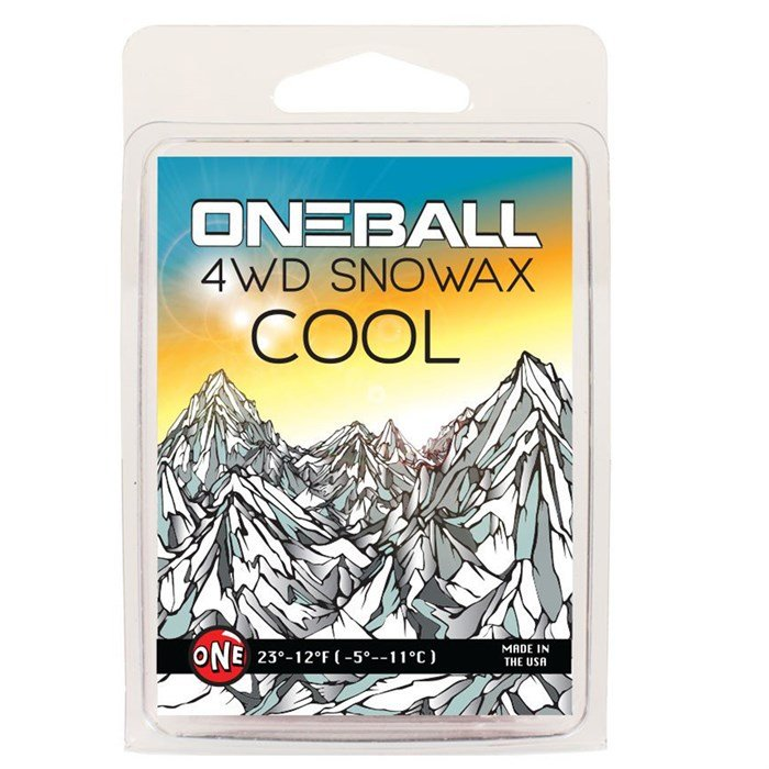OneBall - 4WD Cool Snowboard Wax - (28° to 21°F)